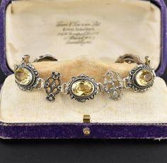Signed Peruzzi Citrine Sterling Silver Bracelet - Boylerpf