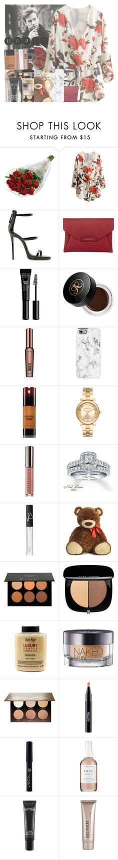 """I was suppose to post this yesterday but HAPPY LATE VALENTINE'S DAY GUYS"" by w-on-der-lan-d ❤ liked on Polyvore featuring GET LOST, Giuseppe Zanotti, Givenchy, Anastasia Beverly Hills, Benefit, Casetify, Kevyn Aucoin, Michael Kors, Chantecaille and Neil Lane"