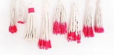 DIY dipped tassel wall hanging