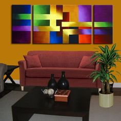 Modern abstract paintings on canvas. Color Rush is a hand-painted artwork, created by the artist Osnat Tzadok. An online art gallery of modern paintings - artwork id Modern Artwork, Paintings I Love, Abstract Photography, Painting Inspiration, Diy Art, Abstract Art, Canvas Art, Living Room, Pointers