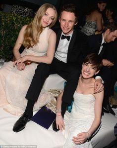 Amanda Seyfried/Cossette, Eddie Redmayne/Marius, and Anne Hathaway/Fantine - Les Miserables.