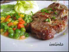 Opečený česnekový vepřový plátek No Salt Recipes, Meatloaf, Steak, Pork, Beef, Cooking, Kale Stir Fry, Meat, Kitchen