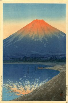 Kawase Hasui - Daybreak over Lake Yamanaka