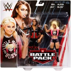 WWE Wrestling Battle Pack Series 54 Alexa Bliss and Nia Jax Action Figure Page Wwe, Wwe 2, Nia Jax, Wwe Toys, Wwe Action Figures, Wwe Girls, Wwe Elite, Wwe Wallpapers, Wwe Wrestlers