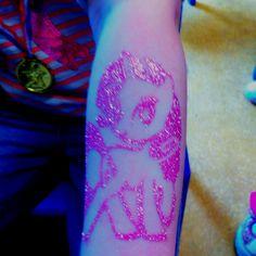 My Little Pony glitter tattoo by Little Lionhearts :)