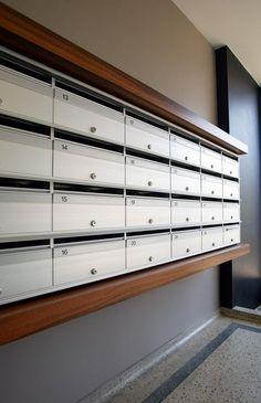 Mailboxes With Wood Surround Locker Storage