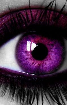 This looks a little creepy, but I think with some fab purple eyeshadow and violet contacts this would look so cool on anyone. This looks a little creepy, but I think with some fab purple eyeshadow and violet contacts this would look so cool on anyone. Pretty Eyes, Cool Eyes, Beautiful Eyes, Violet Eyes, Pink Eyes, Blue Eyes, Purple Love, Shades Of Purple, Purple Iris