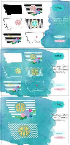 Montana svg, Montana  vector file. Wedding Card Templates