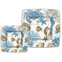 MDW Seashore Paper Plates | convino.com  sc 1 st  Pinterest & Michel Design Works - Lobster Dinner Paper Plates - Tropical Fish ...