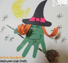 Witch Handprint Halloween Kids Craft