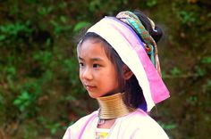 Long-Neck Karen Hilltribe Girl  Mae Hong Son Thailand