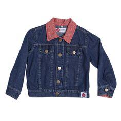 Denim Jacket with Red trim (Girl) - Sojo