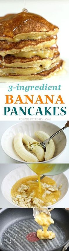 Eat STOP Eat - Quick, easy, flourless, low-calorie, gluten-free banana pancakes. The simplest fluffy and delicious pancakes ever! In Just One Day This Simple Strategy Frees You From Complicated Diet Rules - And Eliminates Rebound Weight Gain No Calorie Foods, Low Calorie Recipes, Low Calorie Sweets, Low Calorie Cake, Low Calorie Diet, Banana Recipes Low Carb, Easy Low Calorie Dinners, Low Calorie Cheesecake, Low Calorie Baking