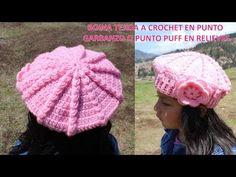 Boina Punto Puff o Garbanzos en Relieves Tejido a Crochet o Ganchillo paso a paso TODAS LAS TALLAS - YouTube