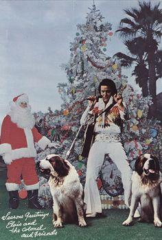 Elvis Christmas Card
