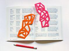 DIY geometric bookmarks cut from felt