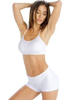 Soothing White Cool #Shorts for Women