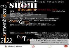 SUONI D'AUTUNNO – SOLEMINIS – 21-22 SETTEMBRE 2013