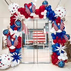 """Balloon Therapy: """"🇺🇸Red, White and Blue themed birthday party for Ross Perot 🇺🇸"""" Fourth Of July Crafts For Kids, Fourth Of July Decor, 4th Of July Decorations, Balloon Decorations, Balloon Ideas, 4th Of July Parade, 4th Of July Celebration, July 4th, Blue Birthday Parties"""