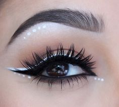 White and black liner