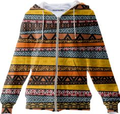 Tribal Pattern Mix hoodie from #Saytoons on #PAOM