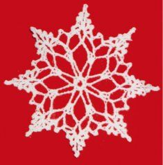 Snowflake Christmas Ornament Free Pattern--I'd like to combine the edge of this one with the center of the one that looks more poinsettia-like