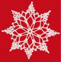 Monde para copo de nieve en crochet