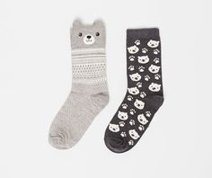 Pack socks with bear design - OYSHO