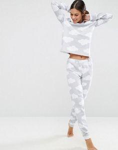 Buy ASOS LOUNGE Cloud Jogger at ASOS. Get the latest trends with ASOS now. Pyjamas, Cozy Pajamas, Satin Pyjama Set, Pajama Set, Cute Christmas Outfits, Cute Outfits, Christmas Time, Pajamas For Teens, Girl Clothing