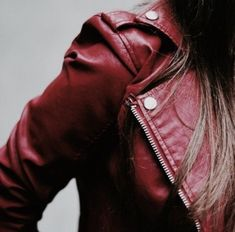 red leather jacket | red white and blue style