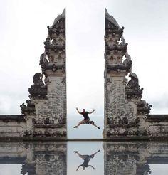 Alaya Resort Ubud to Lempuyang Temple | Easiest Way Tour Operator, Ubud, Statue Of Liberty, Bali, Temple, Backdrops, Waterfall, Tours, Travel