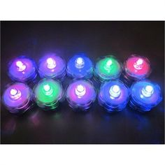 Underwater color changing tea lights, for floral or decor lighting