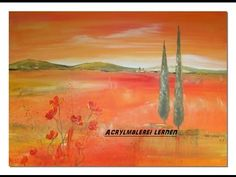 Acrylmalerei lernen Toskana Acrylic Speed Painting by Sabine Belz - YouTube