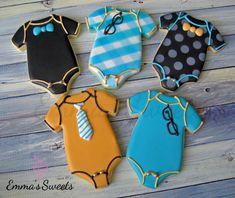 Little man Baby Shower Cookies Fancy Cookies, Iced Cookies, Cute Cookies, Cupcake Cookies, Cupcakes, Sugar Cookies, Baby Boy Cookies, Onesie Cookies, Baby Shower Cookies