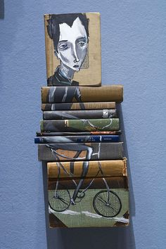 Book art (If anyone knows the artist, please let me know.) #art #painting #creative #book