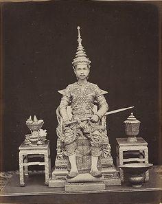 King Chulalonkorn's formal Coronation portrait[s]