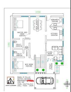 2bhk House Plan, House Floor Plans, Luxury House Plans, Luxury Houses, Indian House Plans, Architectural House Plans, Kerala Houses, Floor Layout, Indian Homes