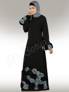 Salma Heavy Embroidered Party Abaya- - (Any Size, Any Length - We Customize)  Click Image to Buy and View Detail Online
