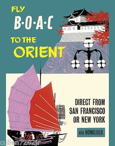 Fly BOAC to The Orient