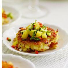 Mini Crab Cakes with Pineapple-Cucumber Salsa