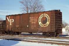 Necessary Freight Cars NP Combo door boxcar During the past several years, Ted Cullotta wrote several articles for Railr. Old Trains, Vintage Trains, Gandy Dancer, Railroad Pictures, Railroad History, Rail Car, Rolling Stock, Model Train Layouts, Model Trains