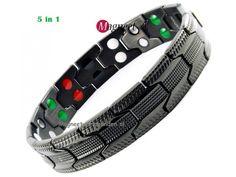 Colwyn 5 in 1 titanium magneetarmband online bestellen bij Magneet-Armbanden.nl