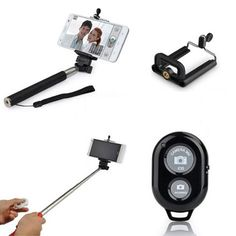 Selfie Stick with Bluetooth Remote Shutter Only $9.99 + FREE Shipping!