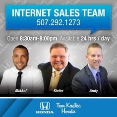 Brad Anderson, istant Service Manager at Tom Kadlec Honda in ...
