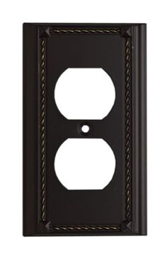 Elk Lighting 2500 Combination Plate from the Clickplates Collection Aged Bronze Wall Controls Wall Plates Outlet Plates