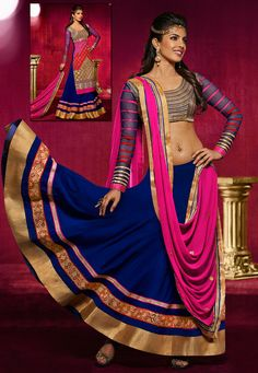 Perk up your looks with the most Latest #Bollywood #Style #Lehenga. Shop Now @ http://www.utsavfashion.com/lehenga/faux-georgette-lehenga-choli-with-dupatta/ljy1-itemcode