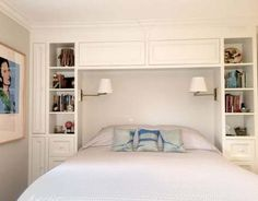Ikea Storage Wardrobe Small Spaces Ideas The Effective Pictures We Offer You About attic Bed Room A quality picture can tell you many thi Attic Bedroom Storage, Bedroom Built Ins, Small Master Bedroom, Bed Storage, Storage Ideas, Storage Headboard, Wardrobe Storage, Headboard Ideas, Bookcase Headboard