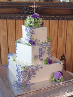 My Photo Album Wedding Cakes Photos on WeddingWire - shape good and monogram-need draping