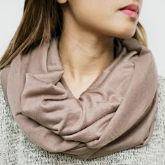 This scarf has so much potential! Pair it with anything - the color and style will add exactly what your outfit needs.