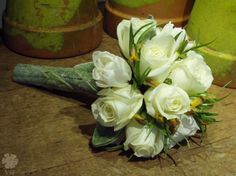 bouquet with lamb's ear handle- love